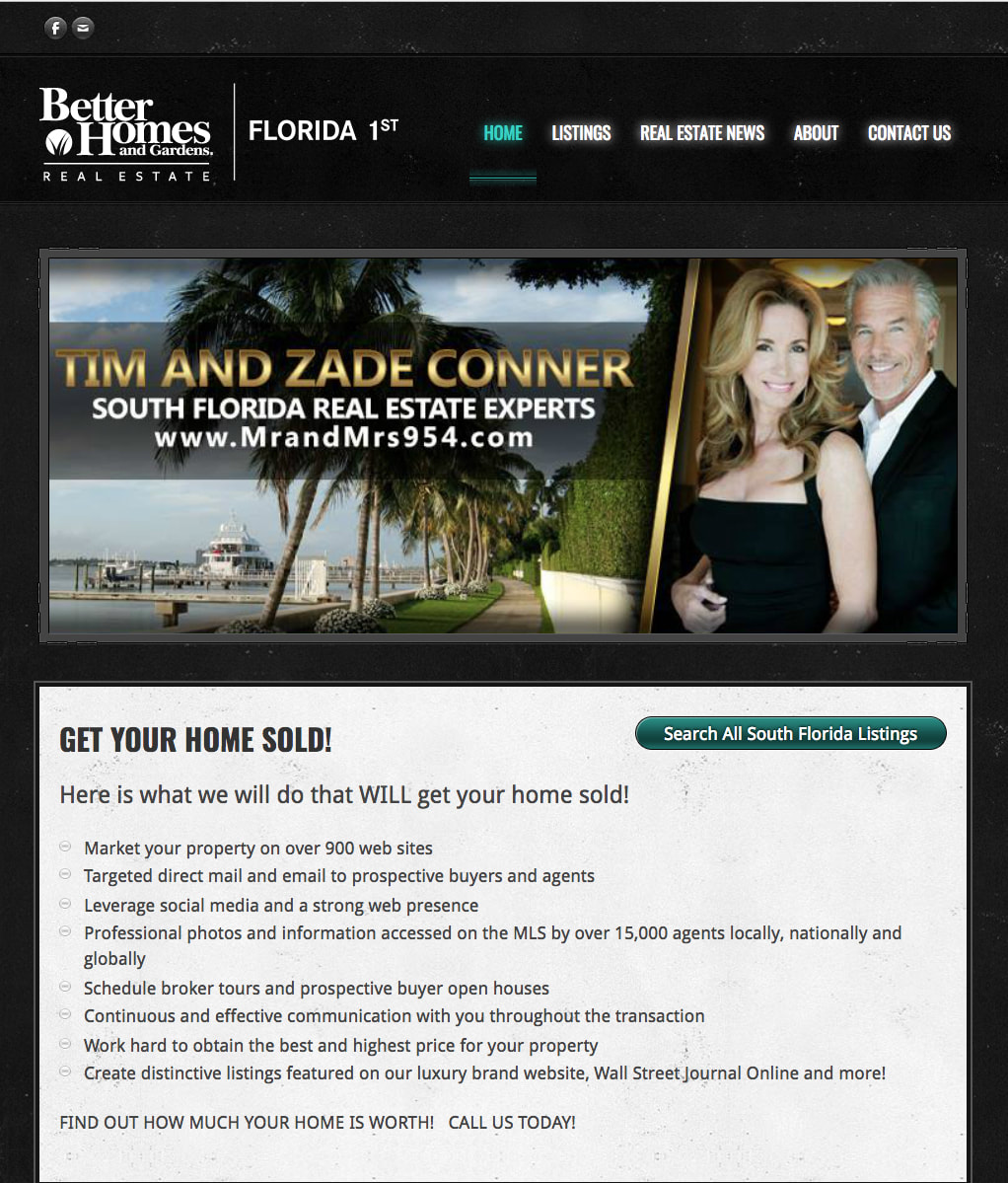 Real Estate Website of Tim and Zade Conner